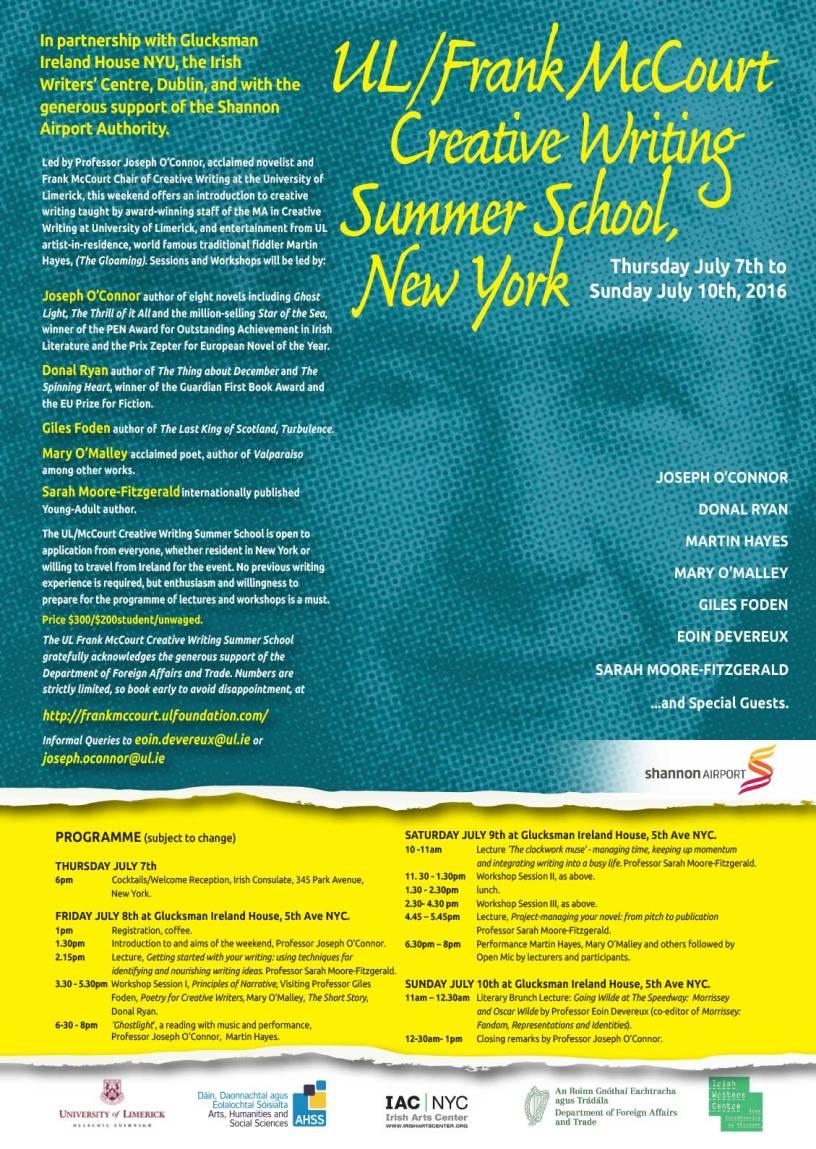 creative writing summer school new york