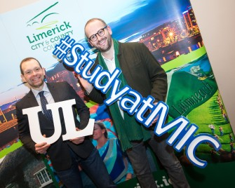 Significant Milestone in the Provision of 3rd Level Education in Ireland as UL and MIC Launch Joint Liberal Arts Programme. Scott Fitzsimons, Politics, UL and Niall Keane, Philosophy MIC at the launch in the council chamber of the Limerick City and County Council, Dooradoyle. Monday 5th December marked a significant milestone in the provision of third level education in Limerick, and indeed Ireland, as Mayor of the City and County of Limerick, Cllr. Kieran OÕHanlon, officially launched a Liberal Arts programme, to be jointly offered by the University of Limerick (UL) and Mary Immaculate College (MIC). UL and MIC have been offering successful BA programmes for decades, but this ambitious, far-reaching project will offer students a wider range of choices making it the largest jointly delivered programme in Ireland. From September 2017 up to 700 students will enrol in an enhanced liberal arts programme, with an offering of nineteen different subjects, allowing students a combination of more than 150 pathways. Pic Sean Curtin True Media.