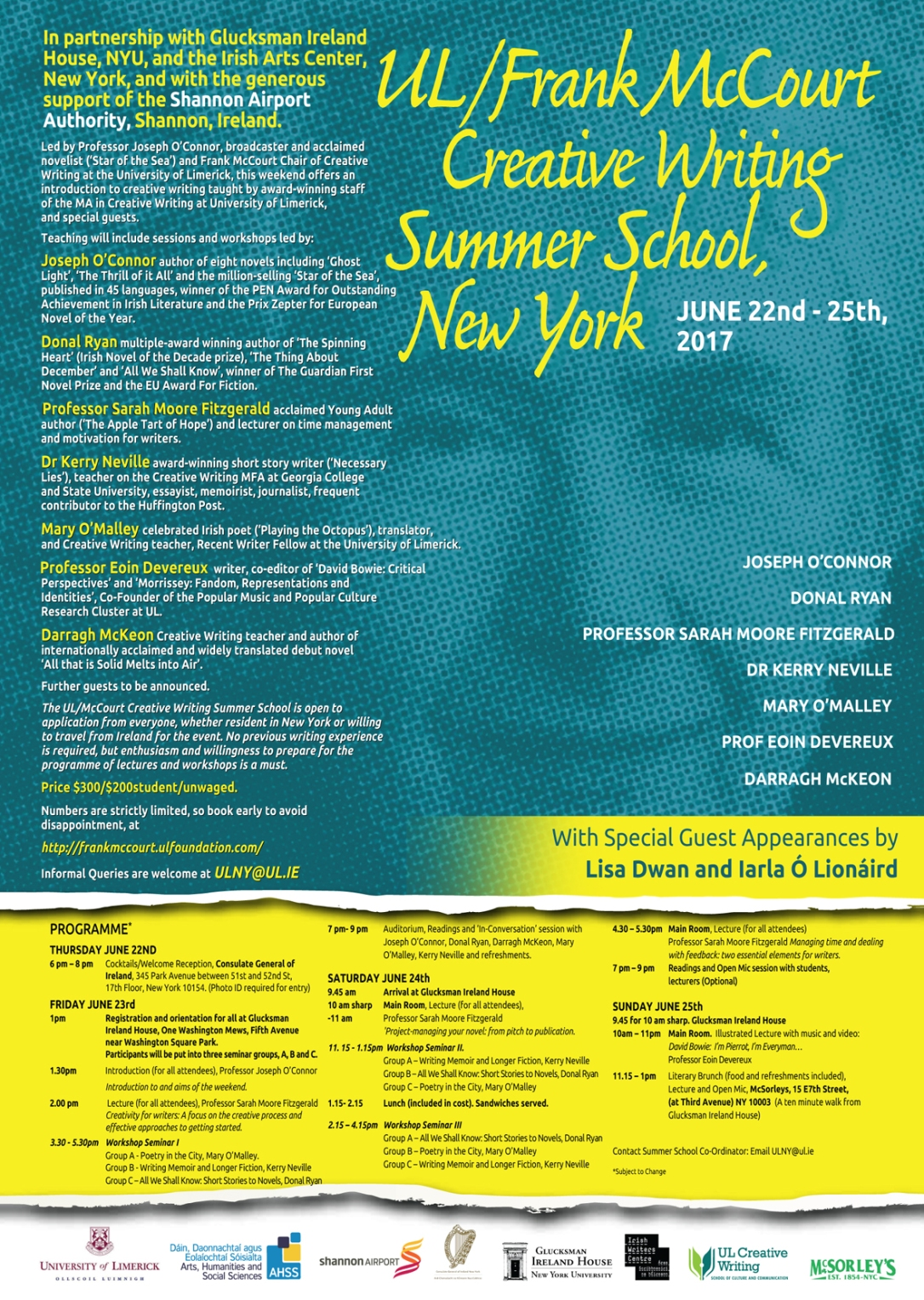 Frank McCourt poster A3 PRINT APRIL 26 PRINT HR