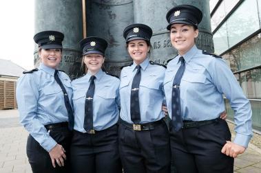 Garda Sarah Jenning, Tralee, Garda Aoife McEvoy, Ballymun, Garda Amy Duffy, Portlaoise and Garda Grace Rogers, Naas