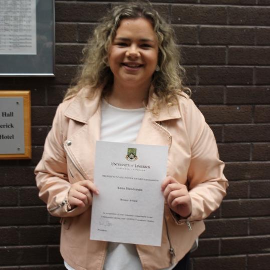 Anna Henderson. AHSS Student Ambassador 2016-2017