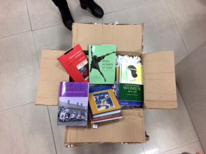 Books from Kenny's of Galway, which will support Professor Atwal's MA students