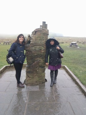 With Dr. Atwal at Cliffs of Moher
