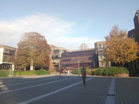 'Brown Thomas' statue as famous landmark for new comers to find their way around campus