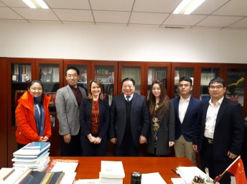 With Professor Yuming Li and colleagues at the Beijing University of Language and Culture
