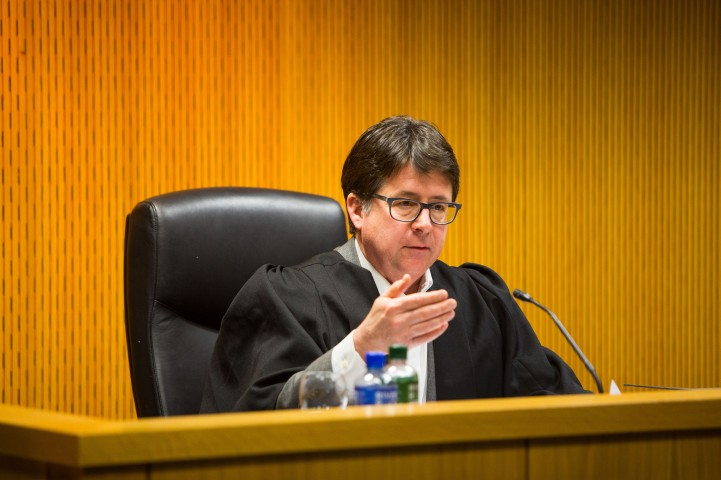 Making a Murderer defence lawyer Dean Strang at the A & L Goodbody Mooting Competition in the School of Law at the University of Limerick. Photo: Oisin McHugh True Media