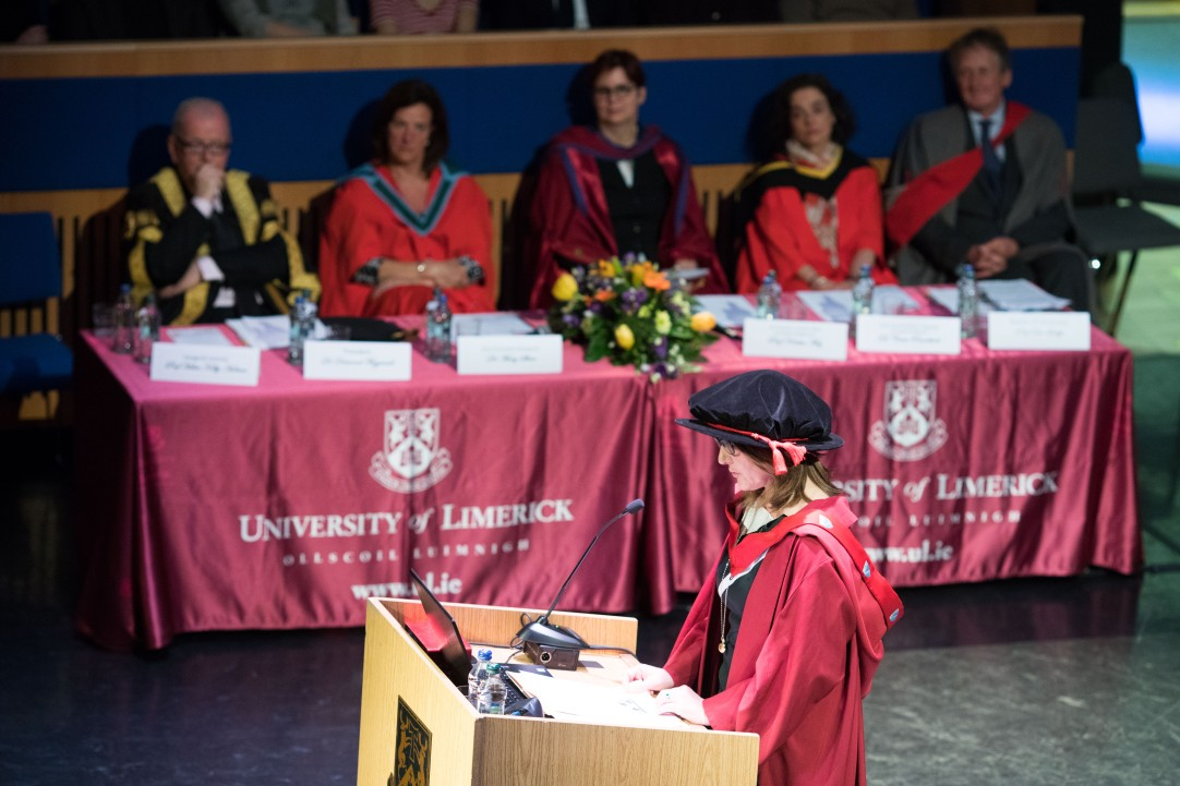 The Chair in Applied Languages and Dean of the Faculty of Arts, Humanities and Social Sciences Professor Helen Kelly-Holmes presented her Inaugural Lecture Titled: 'When Language Matters' at the Irish World Academy, University of Limerick. Picture: Sean Curtin True Media.