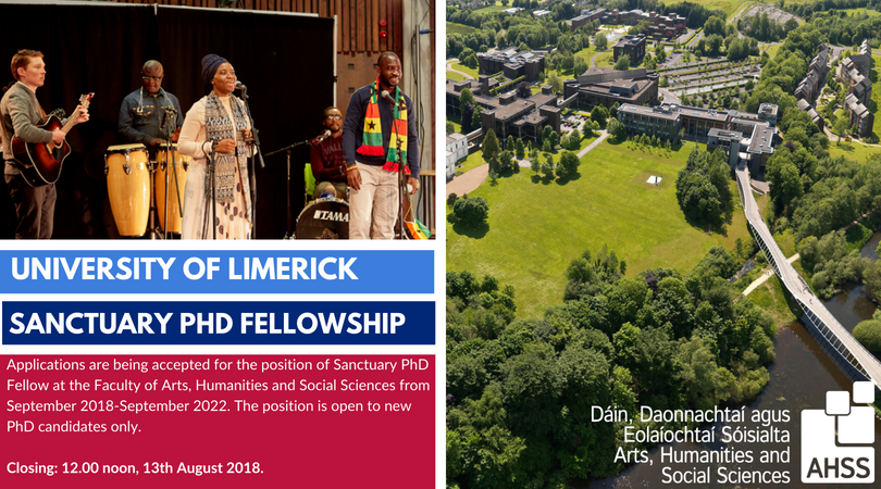 University of Limerick Sanctuary PhD Fellowship